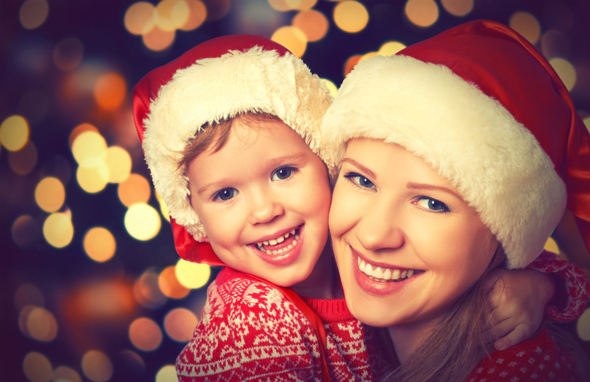 Holiday Dental Health   Mom and son smiling